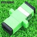 KELUSHI adapterSC Verde 50 pcs SC fibra óptica flange couplerSC/AP C adaptador acoplador de fibra para comunicações digitais