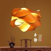 Японский подвесные лампы для ресторана огни лампа для татами древесины лампы чай комнаты лампа Юго Восточная Азия бамбук светильники подве