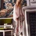 Высокое Качество 2017 Весна Новая Мода Bling Дизайн Женщина Случайные Штаны набор Розовый Блузка с Бантом Блестками Брюки 2 Шт. Брюки Набор