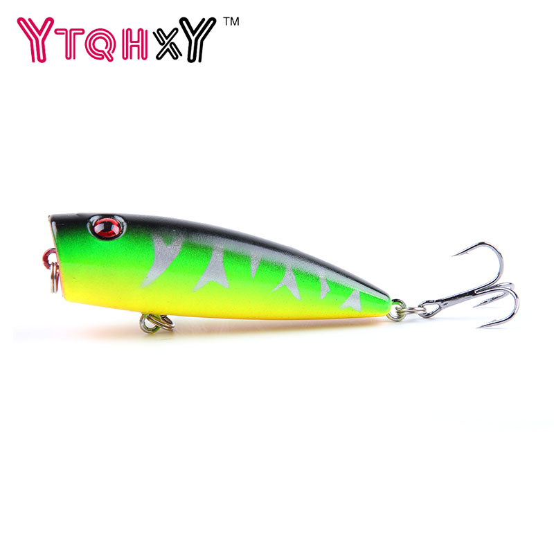 New Arrival 1 pcs 7cm 9g Big Popper Fishing Lures 3d Eyes Bait Crankbait Wobblers Tackle Isca Poper Japan fishing tackle YE-181