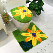 New Design thickening Sunflower European style Comfortable toilet seat cover O-ring Bathroom Mat Gift Potty Closestool Lid Cover все цены