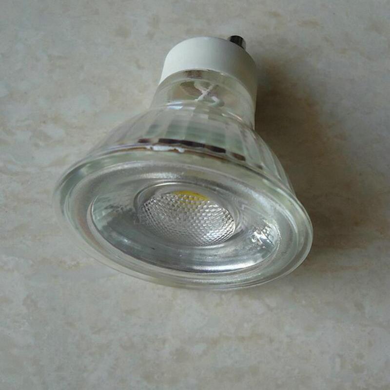 Factory verkoop 5 W COB GU10 Led lampen Licht A110V 220 V dimbare ...