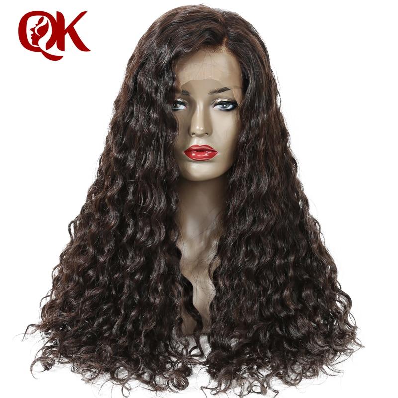 QueenKing cheveux 180% Densité Pleine Perruque de Lacet Couleur Naturelle 100% Brésilienne de Cheveux Humains Naturel Vague Preplucked Dégarni Remy Perruque De Cheveux