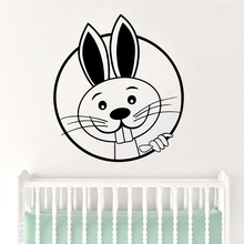 цена Diy rabbit Wall Sticker Removable Self Adhesive Watercolo For Home Decor Living Room Bedroom Wall Art Sticker Murals