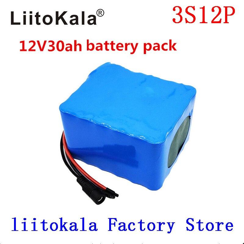 LiitoKala 12 V 30Ah 3S12P 11.1 V 12.6 V batterie au Lithium haute puissance pour onduleur lampe xénon lampadaire solaire voiture de tourisme