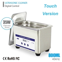 Smart Ultrasonic Cleaner Stainless Steel for Jewelry Glasses Ultrasound Wave Washing Ultrasound Bath Machine Cleaning with Timer