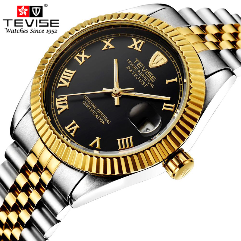 relogio masculino New Fashion Luxury Brand TEVISE Men Watch Automatic Mechanical Watches casual Sport Waterproof Wristwatches tevise fashion auto date automatic self wind watches stainless steel luxury gold black watch men mechanical t629a with tool