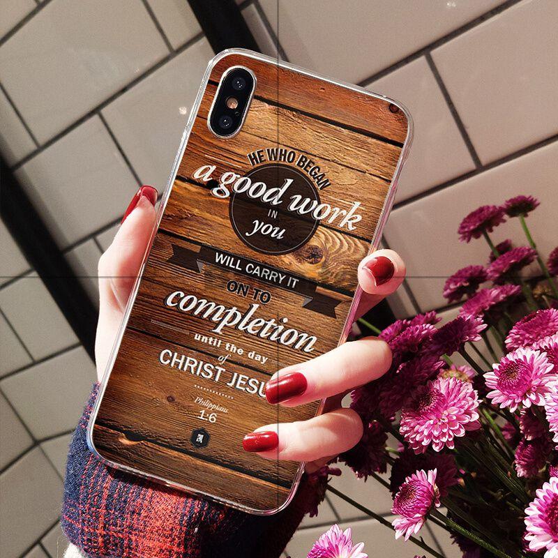 Babaite Bible verse Philippians Jesus Christ Christian Soft Phone Case for iPhone 8 7 6 6S Plus X XS MAX 5 5S SE XR Cellphones