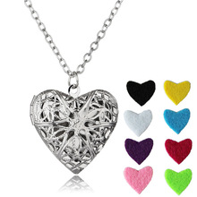For Women gift Metal Box Perfume Diffuser Fragrance Necklace Women Classic heart Vintage Aromatherapy necklaces & pendants
