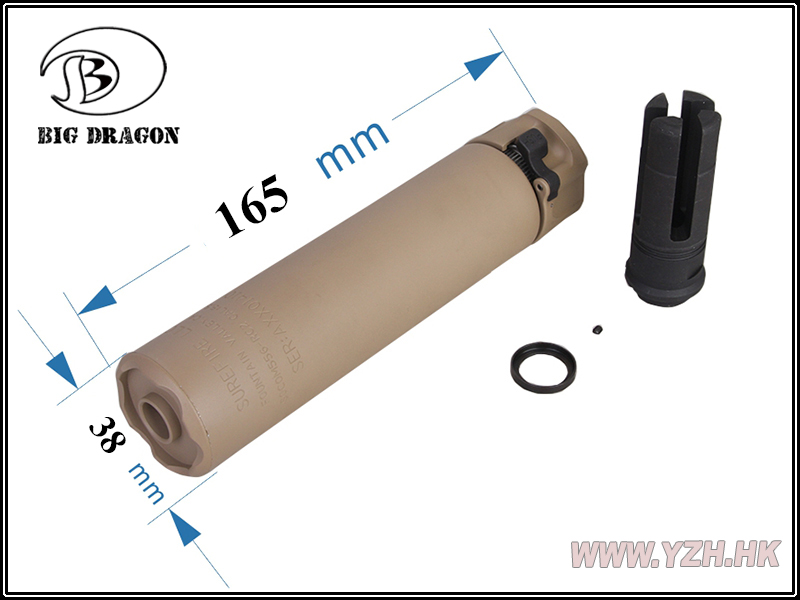 Uniontac airsoft SOCO M 556 series silencer 14 mm counter clockwise