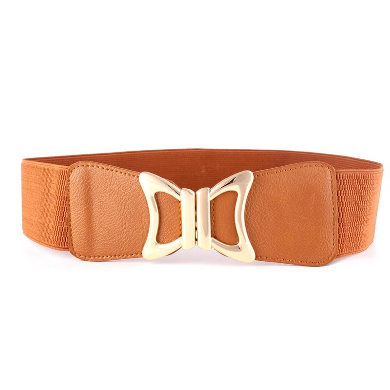 KWD Designer Belts High Quality Women Fashion 2019 Ladies Butterfly Wide Elastic Cummerbunds Slimming Waist Belt Luxury Ceinture