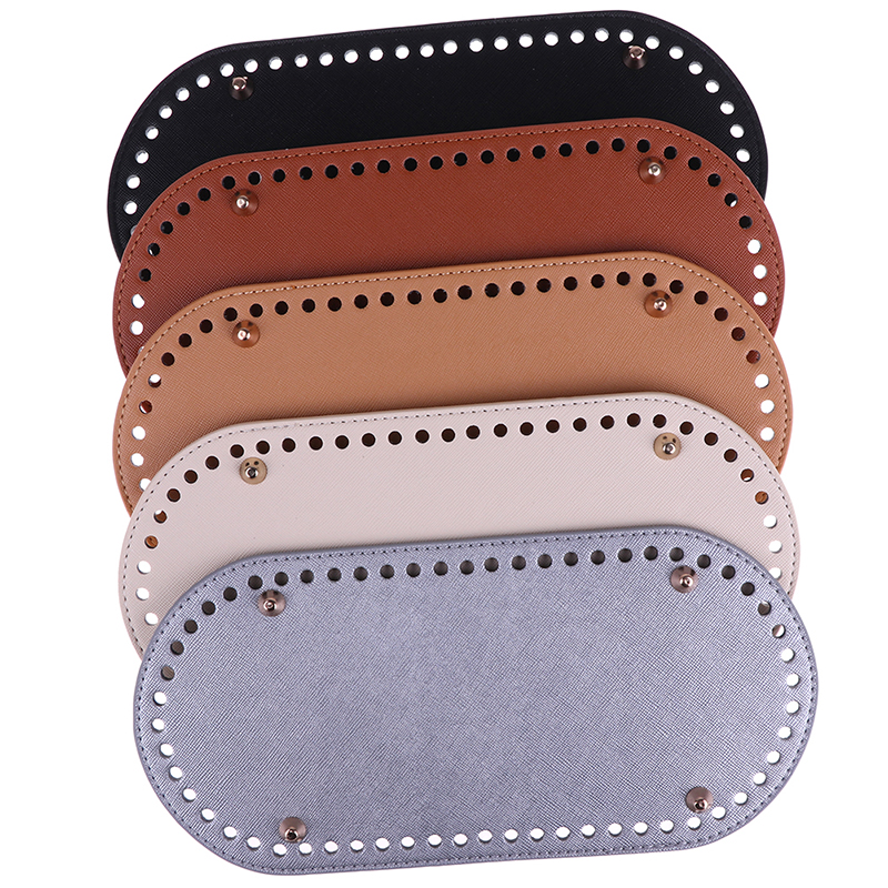1pcs PU Leather 60 Holes Handbag Bottom High Quality Long Bottom For Knitting Bag Women Bags DIY Accessories