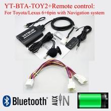 Bta yatour adaptador bluetooth para el coche con control reomote para lexus toyota 6 + 6pin radios