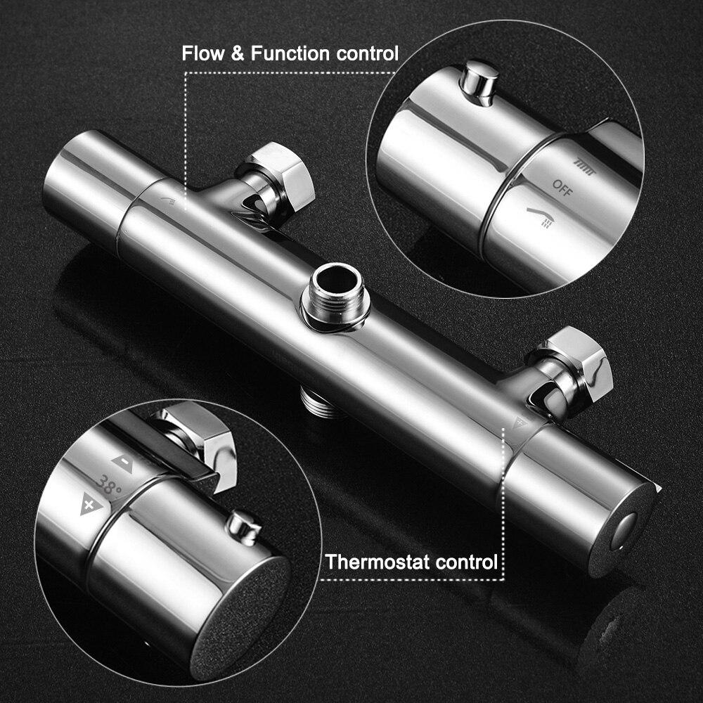 Bathroom Shower Set Thermostatic Mixer Temperature Control Shower ...