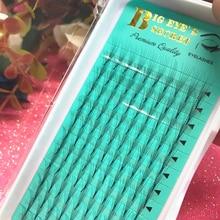 Купить с кэшбэком Top Russian Volume lashes 9-15mm 6D False Eyelashes Extension 6D Lashes Premade FANS Flase Individual Eyelash Extensiones