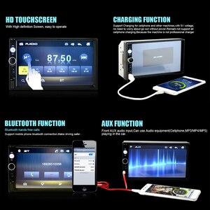 """Image 3 - Автомагнитола AMPrime, мультимедийный плеер с 7 """"сенсорным экраном, MP5, Bluetooth, USB, камерой заднего вида, типоразмер 2 Din"""