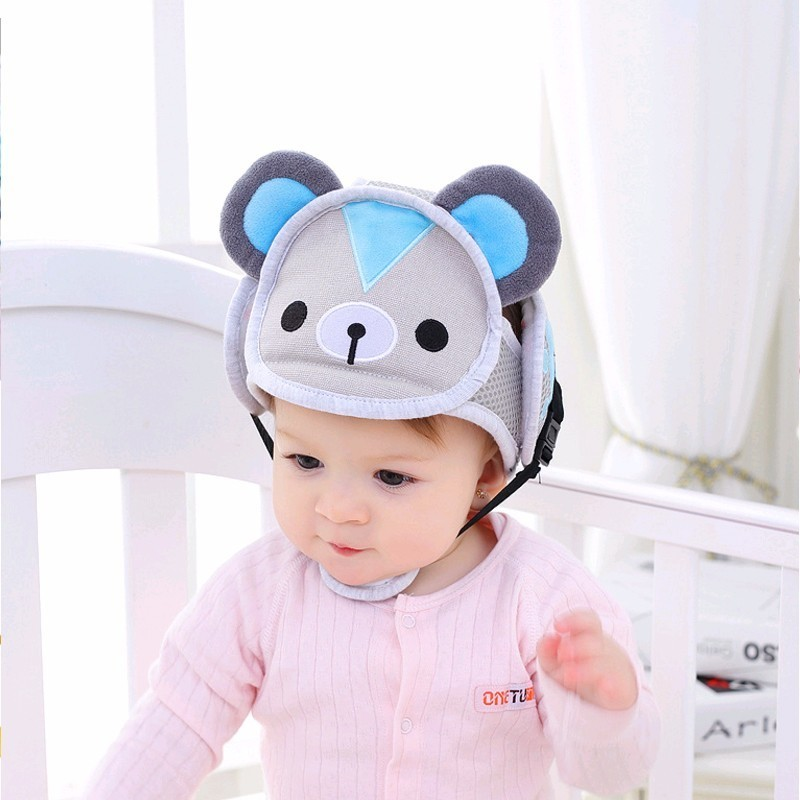 Baby Head Protection Helmet Boy Girl Anti-collision Safety Cartoon Toddler Security Protection Soft Hat For Walking Kids Cap