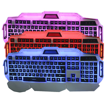 Backlit LED Full Size Switch USB Laptop Shiny Gaming Keyboard 3 Backlight Modes 108Keys USB Wired Powered Computer Keyboard