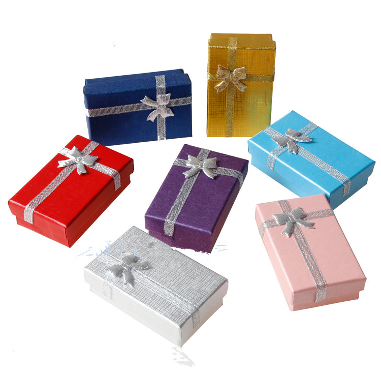 Hot Sell 16pc Necklace Earrings Ring Jewelry Box 8*5*2.5 Gift Boxes Jewelery Accessories Packaging,Wholesale Factory sale
