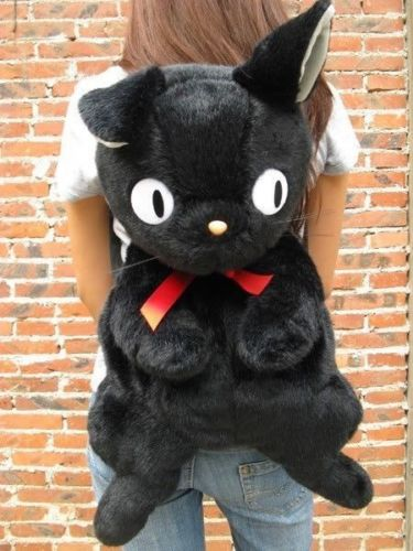 Impartial Black Cat Jiji Kikis Delivery Service Backpack Plush Bag 75cm 25inch Gift Toy Free Shipping Buy Now Dolls & Stuffed Toys