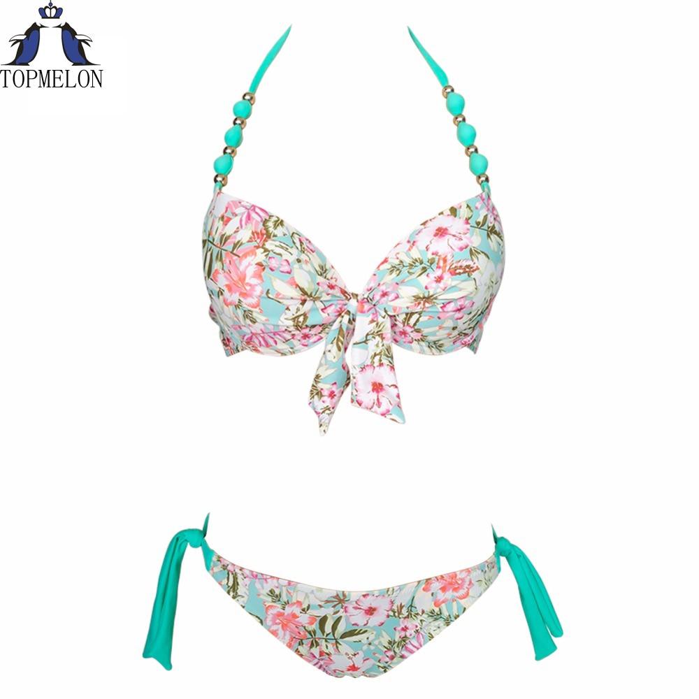 Maillots de bain Femme Bikinis Brésiliens Femmes beachwear Floral sexy maillot de bain Baigneur bikini ensemble maillot de bain Maillots De Bain Femme bikini