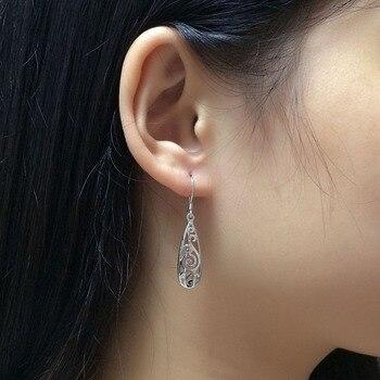 Long Drop 925 Sterling Silver Earrings3