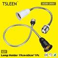 TSLEEN 360 Graus Adaptador Extensor E27 Suporte Da Lâmpada Soquete da Lâmpada de Luz Flexível 19-60 cm de Alta Qualidade