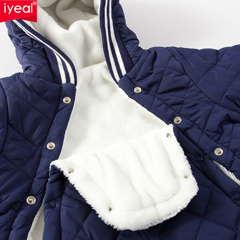IYEAL Baby Rompers Winter Thick Climbing Clothes Newborn Boys Girls Warm Jumpsuit Fashion Hooded Outwear for Inafnt 0-24 Months