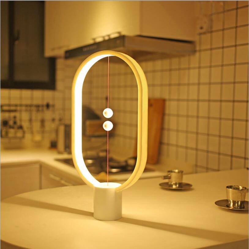 LED Nuit Lumière Nouvelle Conception Heng Lampe Équilibre USB Alimenté Pour La Maison Vitrine Décor Chambre Bureau Lampe de Table De Noël Cadeaux