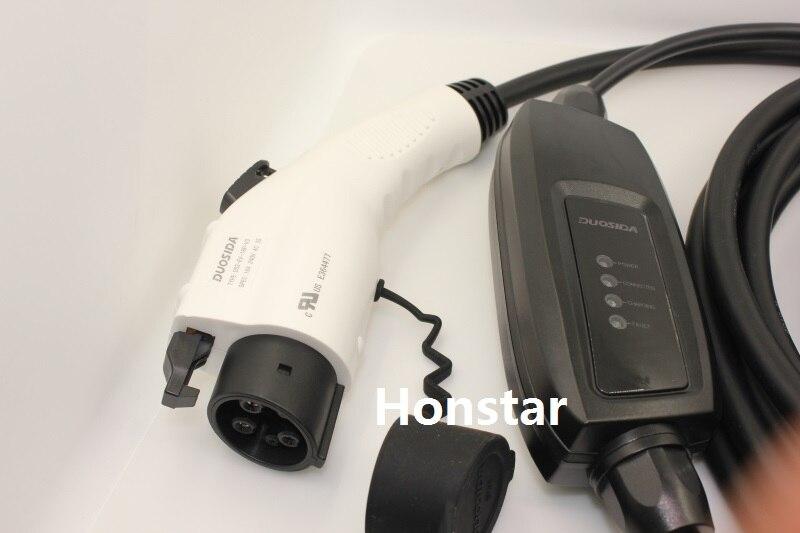 J1772 SAVE d'entrée ev plug Duosida niveau 2 EV Chargeur 16A Type 1 schuko 5 M câble pour voiture électrique mode De Charge 2 plug STOCK! - 3