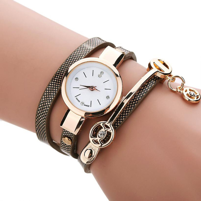 Women Watch Hot Sale Women's Fashion Watch  Women Metal Strap PU Leather wristwatches  Watch Free Shiping Christmas Gift,Sep 1