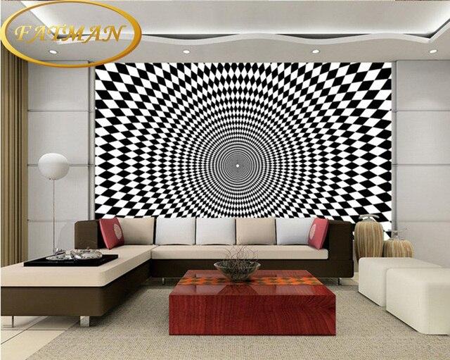individuelle fototapeten 3d stereoskopischen hohe technologie geometrische muster tapete wandbild wohnzimmer cafe tapete - Muster Tapete Wohnzimmer