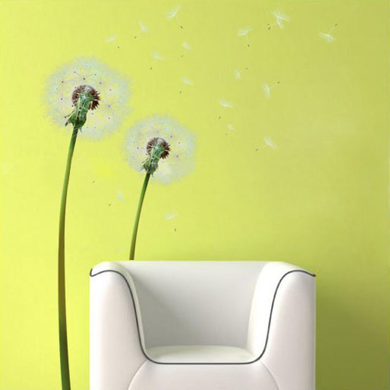 Dandelion Living Room Wall Sticker Large Wall Decals TV Background ...