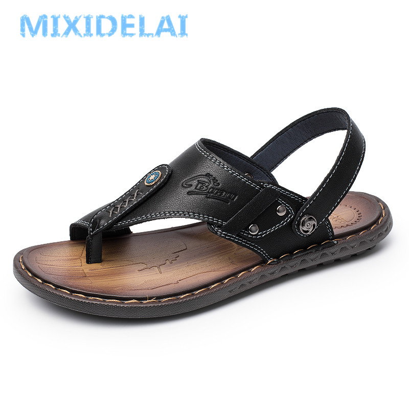 UnSlip Outdoor Men/'s Genuine Leather Breathable Beach Sandals Casual Shoes