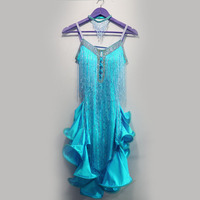 New style latin dance costume sexy tassel spandex latin dance competition dress for women child latin dance dresses S 4XL