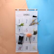 number 12 pockets behind door wall big size wardrobe storage bag pouch sundries storage box closet wall hanging organizer