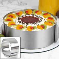 Anneau de Mousse de cercle d'acier inoxydable rétractable moule de plat de cuisson ensemble de moule de gâteau décoration taille réglable outils de gâteau de cuisson