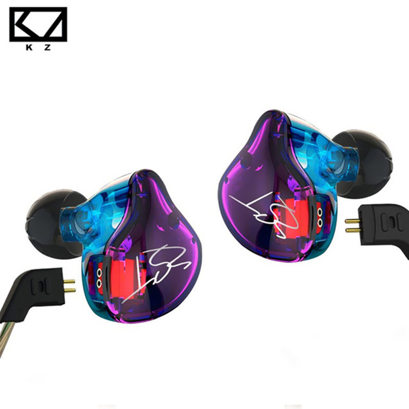 KZ ZST Pro Armature Dual Driver Earphone Detachable Cable In Ear Audio Monitors Noise Isolating HiFi Music Sports Earbuds hosa pro balanced rean dual 1 4 inch trs interconnect cable
