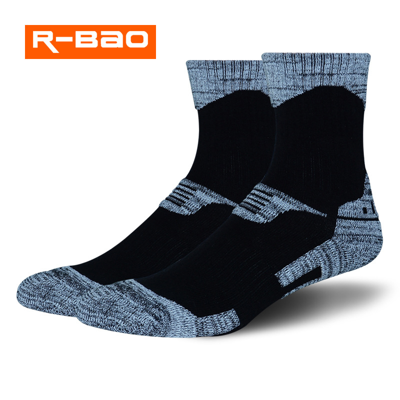R-Bao Professional Women Men Hiking Socks Warm Cotton Skiing Socks Trekking Mountaineering Cycling Outdoor Sports Running W06