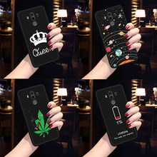 Simple Letter Printed TPU Case For Huawei P20 Pro Mate 10 P10 P8 P9 Lite 2017 Nova 2i Fashion Pattern Cover For Honor 8 Lite 9i(China)