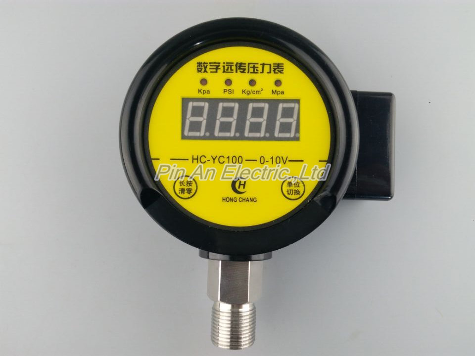 DC12V-24v 0-10MPA Digital remote pressure gauge constant pressure water supply  Digital remote pressure gauge new and original kp25p 02 f1 kita digital display vacuum pressure gauge waterproof pressure switch 0 000 1 000 mpa dc12 24v