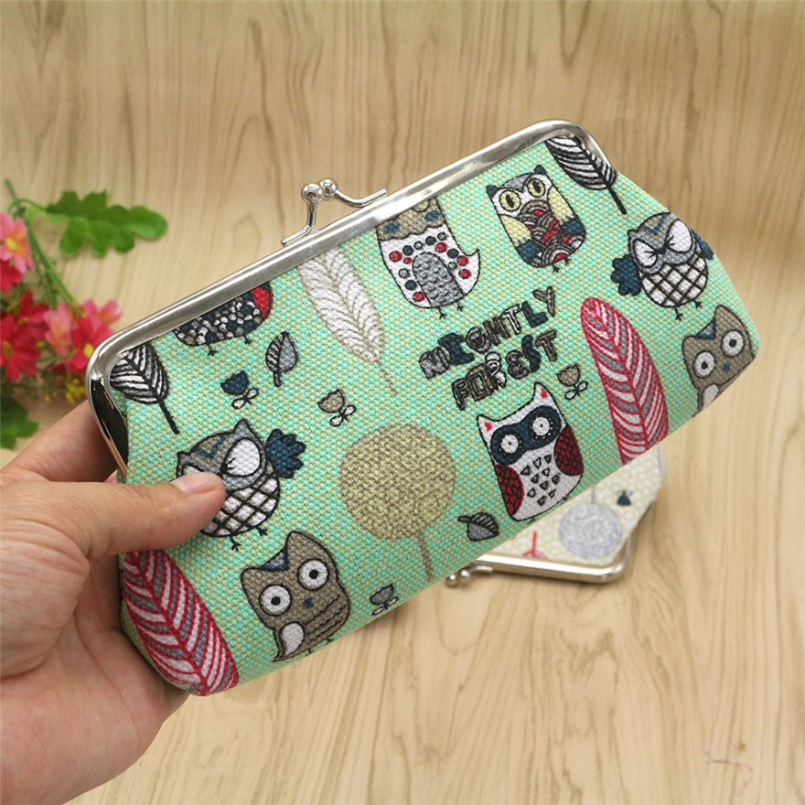 3 Colours Women Lady Retro Vintage Owl Small Wallet Snacks Coin Purse Wallet Bag Change Pouch Clutch Bags ID Card Hasp Purse