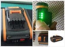 LED 20 V Batterie 2000 mah Li-Ion für Power Tool Worx WX390/WX176/WX166.4/WX372.1 WX800/ WX678/WX550/WX532/WG894E WG629E/WG329E/WG2