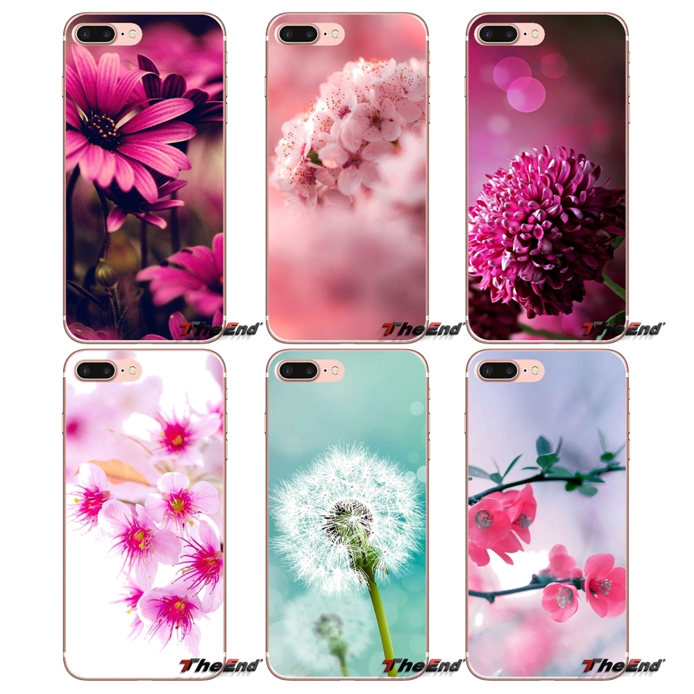 Pink Summer Flowers Wallpaper Phone Case For IPhone X 4 4S