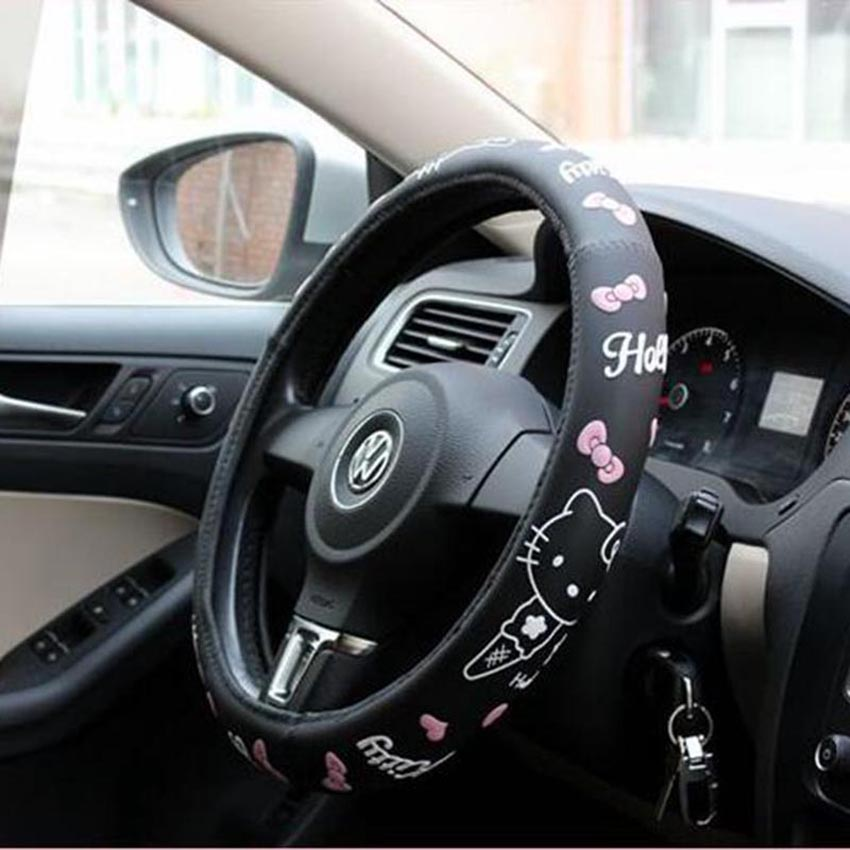 Hello kitty car accessories steering wheel cover for auto - Hello kitty car interior accessories ...