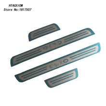 for Renault Clio Iv 4 2014 2016 Door Sill Strip Cover Stainless Decoration Car Styling Sticker Auto Accessories Pcs