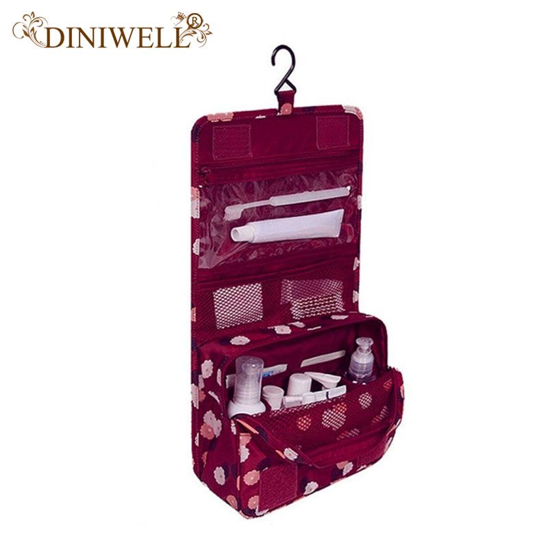 DINIWELL Hanging Toiletry Kit Clear Travel Storage Bag Cosmetic Carry Toiletry Pockets For Womens Gril Gift Traveling Bathroom