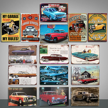 Car Vintage Tin Sign Bar Pub Home Wall Decor Retro Metal Art Beer Coffee Poster Plate 20x30cm