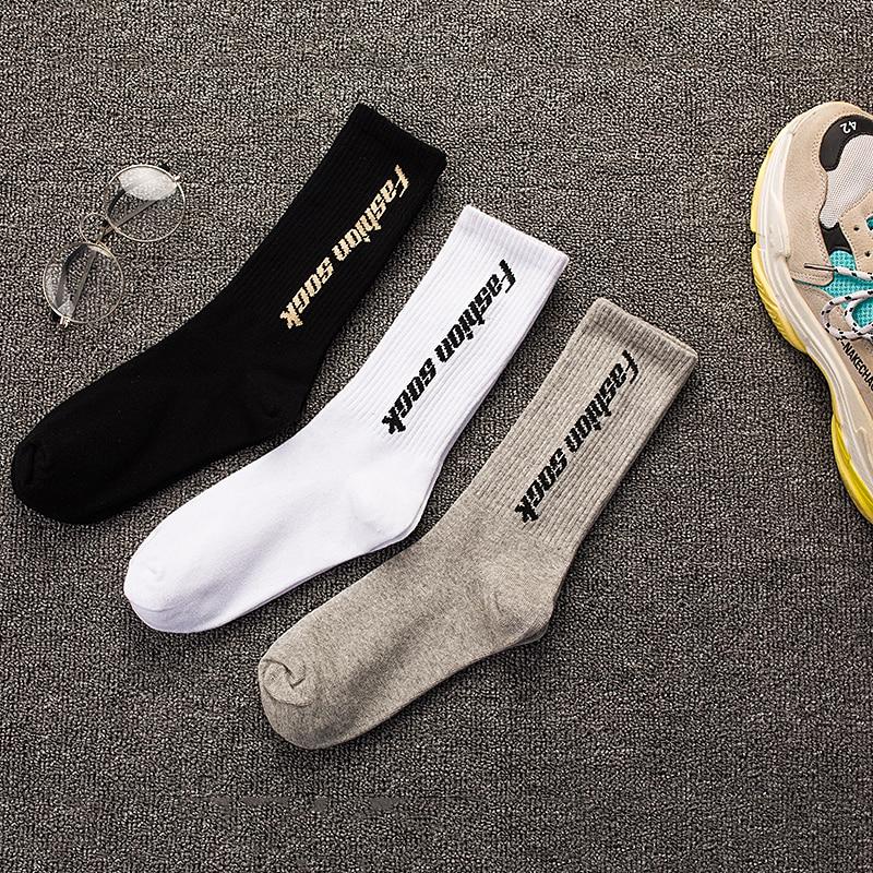3 Pairs /Lot Hip Hop Men's Long Socks Instagram Street
