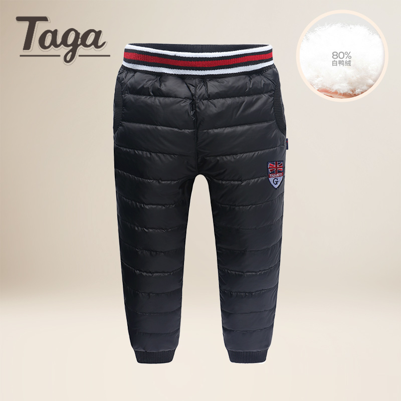 Lavla 2017 New Arrival High Waist Boys and Girls Pants warm Kids Trousers Winter Thicken Down Pant Windproof Waterproof Pants lavla new 2017 children clothing boys winter pants with fleece jeans warm long trousers for boys thick pants kids clothes 1 5 y